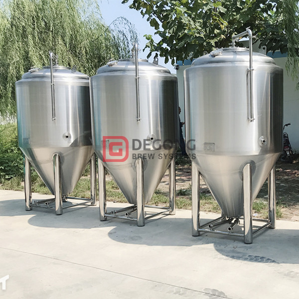 500L pressured and insulated stainless steel beer fermentation tank for sale