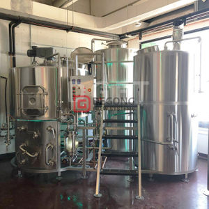 1000L Steam heated automatic 2 vessels conical beer brewhouse mashing tanks for sale