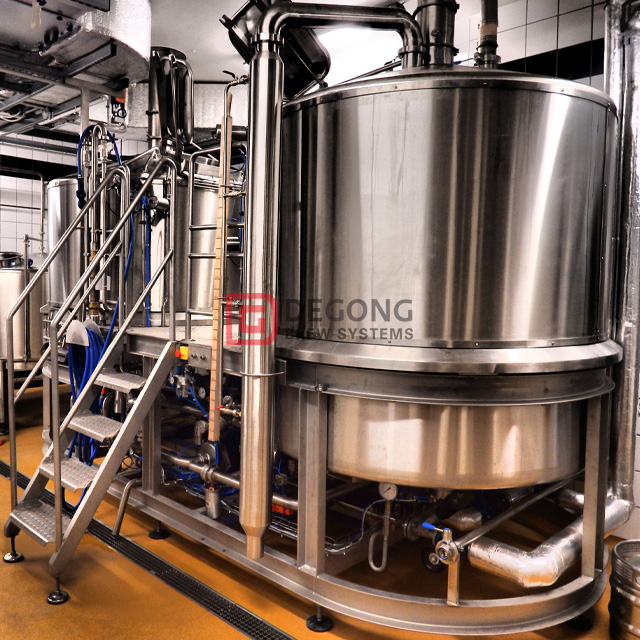 7BBL Stainless Steel Beer Brewing Equipment with Steam Heating Beer Brewhouse Mashing System