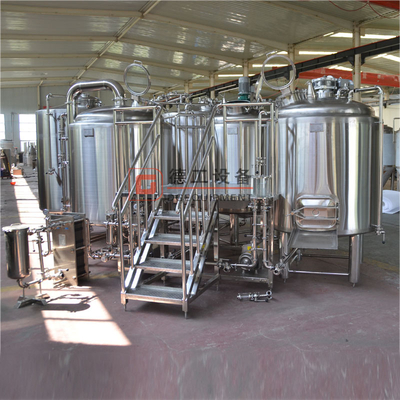 1000L Industrial Commercial Steel Beer Brewhouse / Brewing Equipment for Hotel