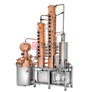 300L Copper Whisky Vodka still Distillation Equipment Column Price Listing for Sale
