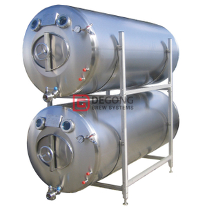 2000L insulated(non-insulated) horizontal Beer Brite Tank Beer Serving Tank for beer storage / clear