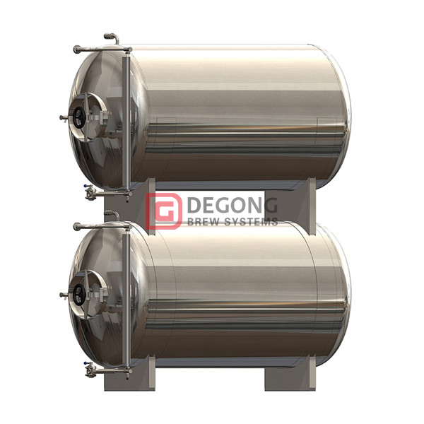 1000L pressurized insulated and jacketed horizontal maturation tank for sale