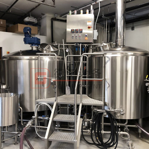 Professional Brewing Equipment 2000L 3 Vessel Brewhouse Heated By Steam Constructed By SS304 For Mashing Process