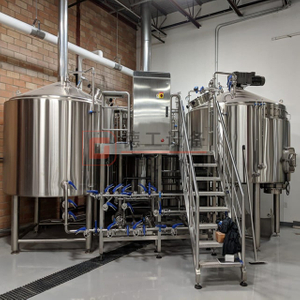 500L 1000L 2000L Full Automatic Or Semi Automatic Craft Beer Brewing System 2 Vessel Brewing Unit Tanks