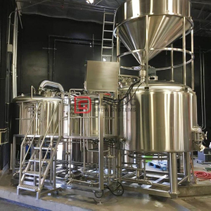 CE PED Certificated 1000L Micro Beer Brewery Equipment with Fermentation Tanks | 3 Vessels Brewhouse