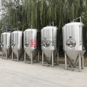 1000L Vertical Stainless Steel Insulated Top/side Manhole Cooling Jacket Beer Fermenting Tank Brewery System