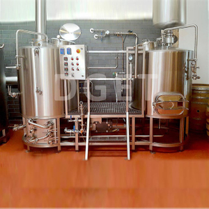 500L Small Brewing System Home Beer Making Machine Electric Heated Beer Brewhouse with 3mm Stainless Steel And PLC Auto Control