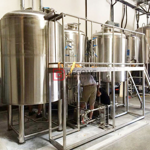 10HL brewery equipment Brewhouse with three tanks and ergonomic industrial design beer brewing equipment