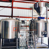 500L 1000L 2000L 3000L Brewery Equipment Used Customized 2/3/4 Vessel Steam Heated Beer Brewhouse
