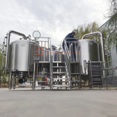 1000L Customized Steam/electric Heated Combined Two Vessel Beer Brewhouse Brewing System for Sale