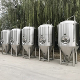 1000L SUS304 Big Size Commercial Beer Brewing Equipment Conical Insulated Isobaric Fermentation Tank