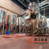 500L 5HL craft turnkey 3-vessel stainless steel beer brewing equipment brewery system for sale