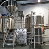500L 1000L 2000L Customized Brewery Equipment Used 2/3 Vessel Beer Brewhouse with Steam/electric Heating Method