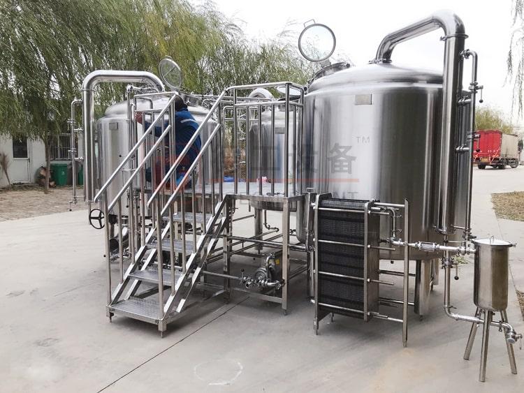 stainless steel beer brewery equipment 3-vessel beer brewhouse