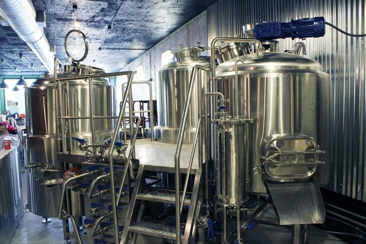 3 vessel beer brewhouse