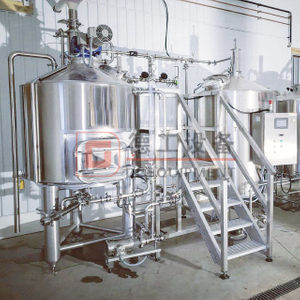 500L Craft Beer Brewing System CIP System PLC/PID Control Beer Mashing System for Sale
