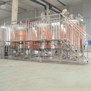 Medium scale size 1500l per batch brewhouse brewing system and fermenting cellar vessel have stock