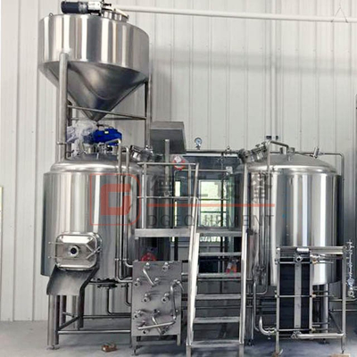 Combination 2-vessel 600L Beer Brewhouse with Steam Heating Customized Mashing System Online